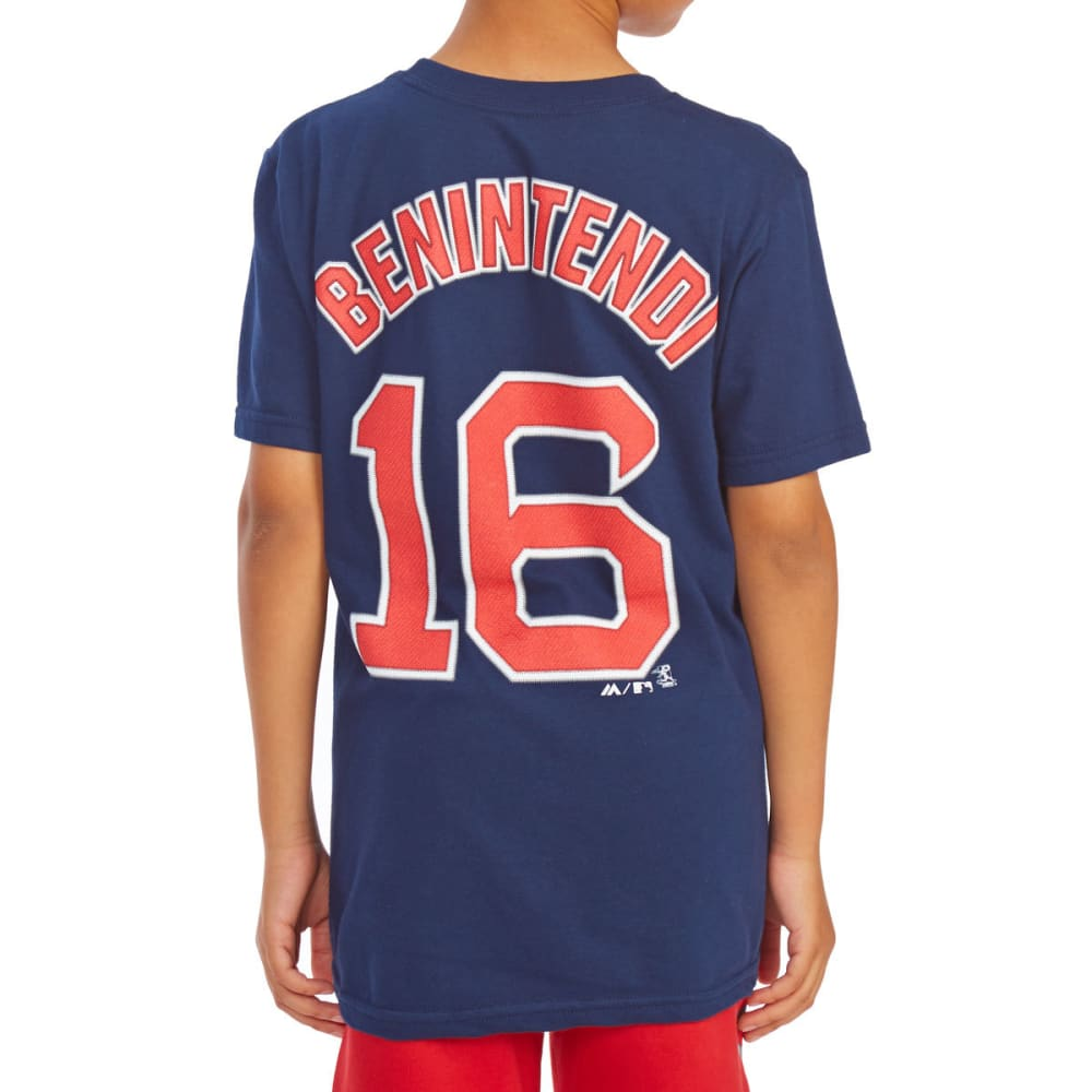 BOSTON RED SOX Big Boys' Andrew Benintendi #16 Name and Number Short-Sleeve Tee S