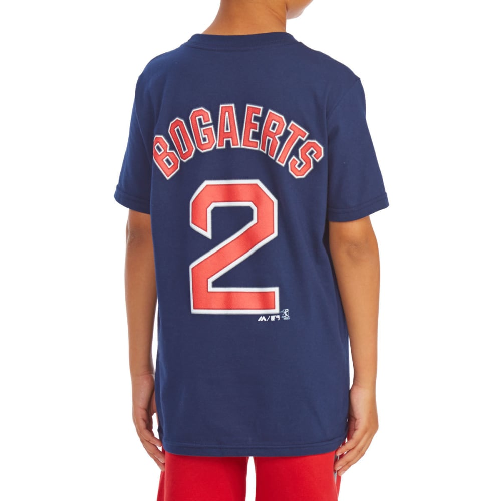 BOSTON RED SOX Boys' Xander Bogaerts 2 Name and Number Tee - NAVY
