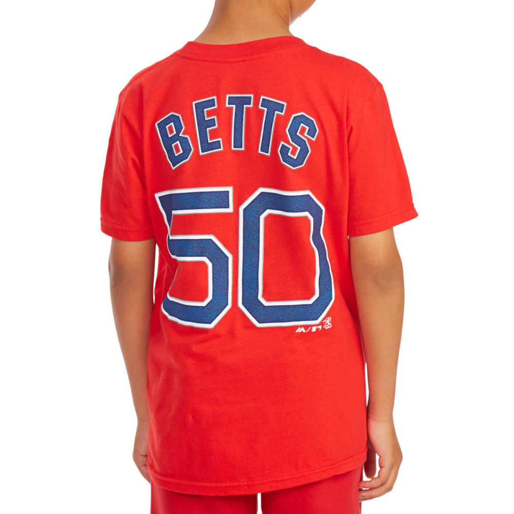 BOSTON RED SOX Boys' Mookie Betts 50 Name and Number Tee - RED