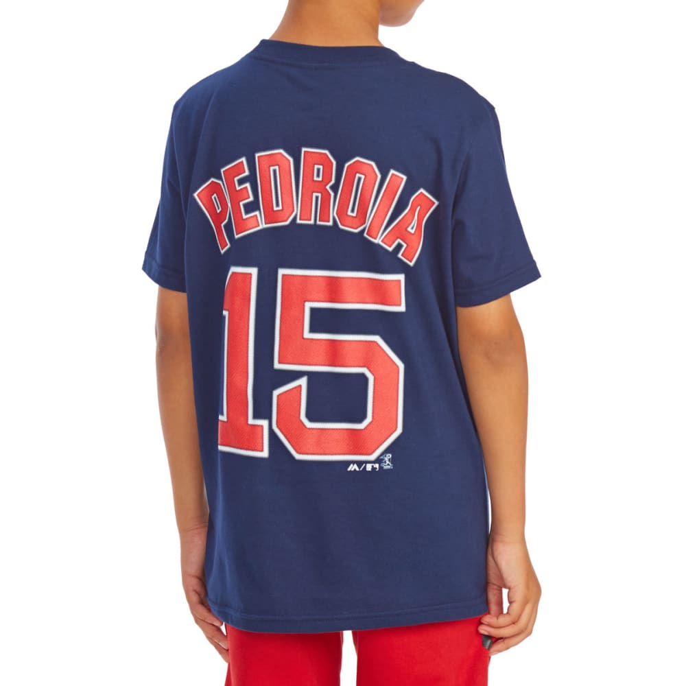BOSTON RED SOX Little Boys' Dustin Pedroia #15 Name and Number Short-Sleeve Tee - NAVY