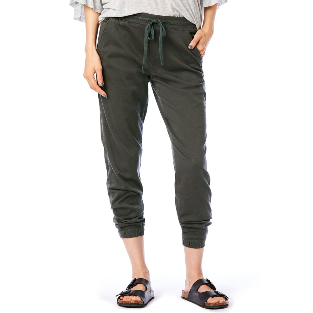 SUPPLIES BY UNIONBAY Women's Ashbey Sateen Jogger Pants - 339J-FATIGUE GREEN