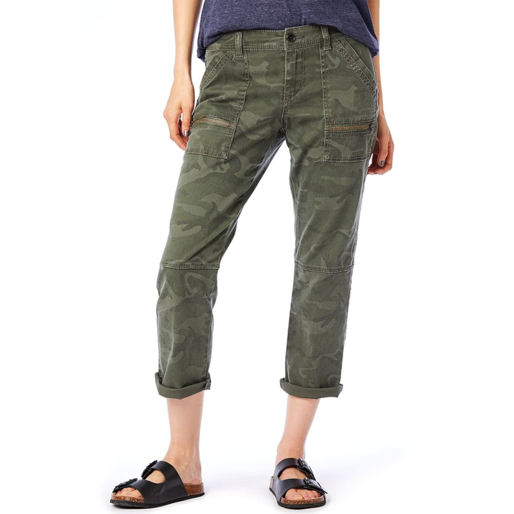 SUPPLIES BY UNIONBAY Women's Norma Camo Crop Pants - 396J-GREENBELT CAMO