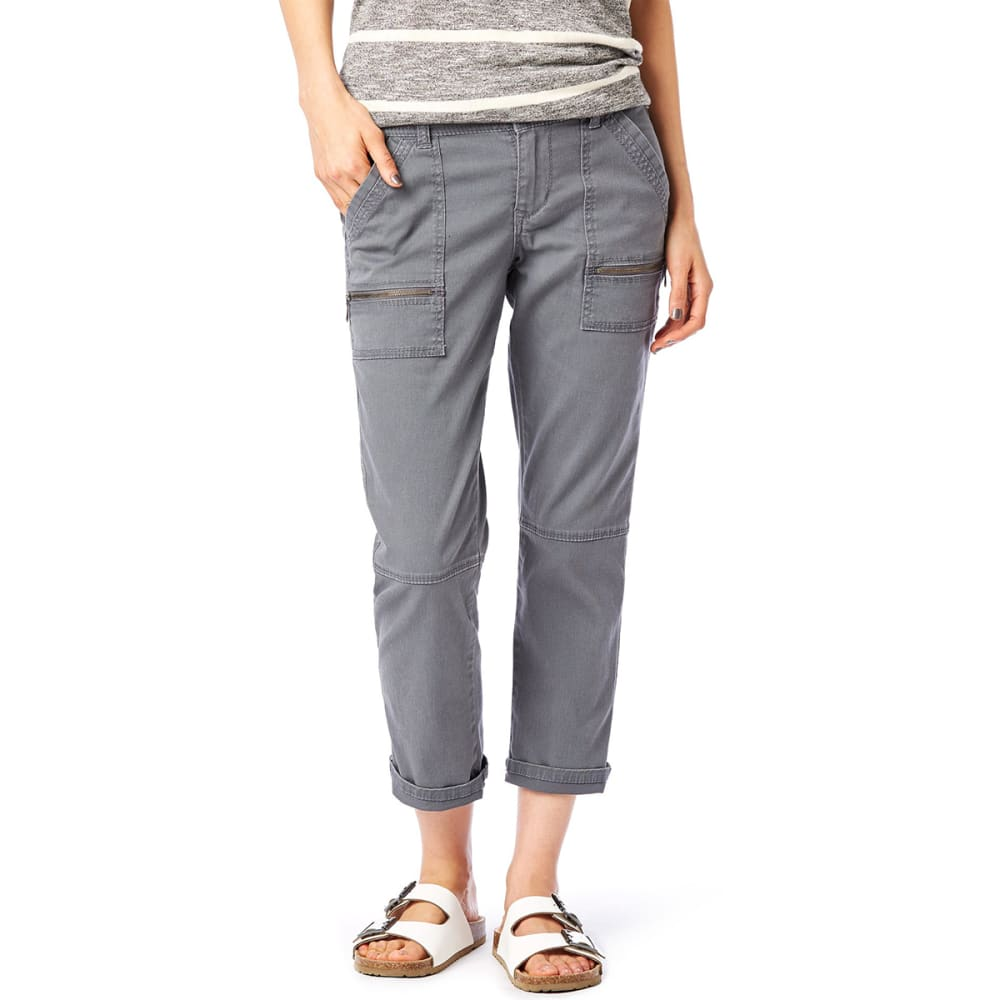 SUPPLIES BY UNIONBAY Women's Norma Crop Pants - 056J-LT GALAXY GREY