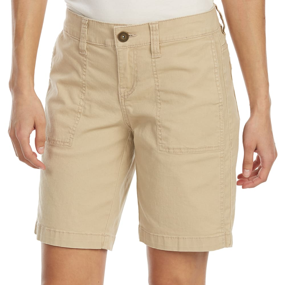 SUPPLIES BY UNIONBAY Women's 9 in. Nadeen Chino Midi Shorts - 250J-BEIGE