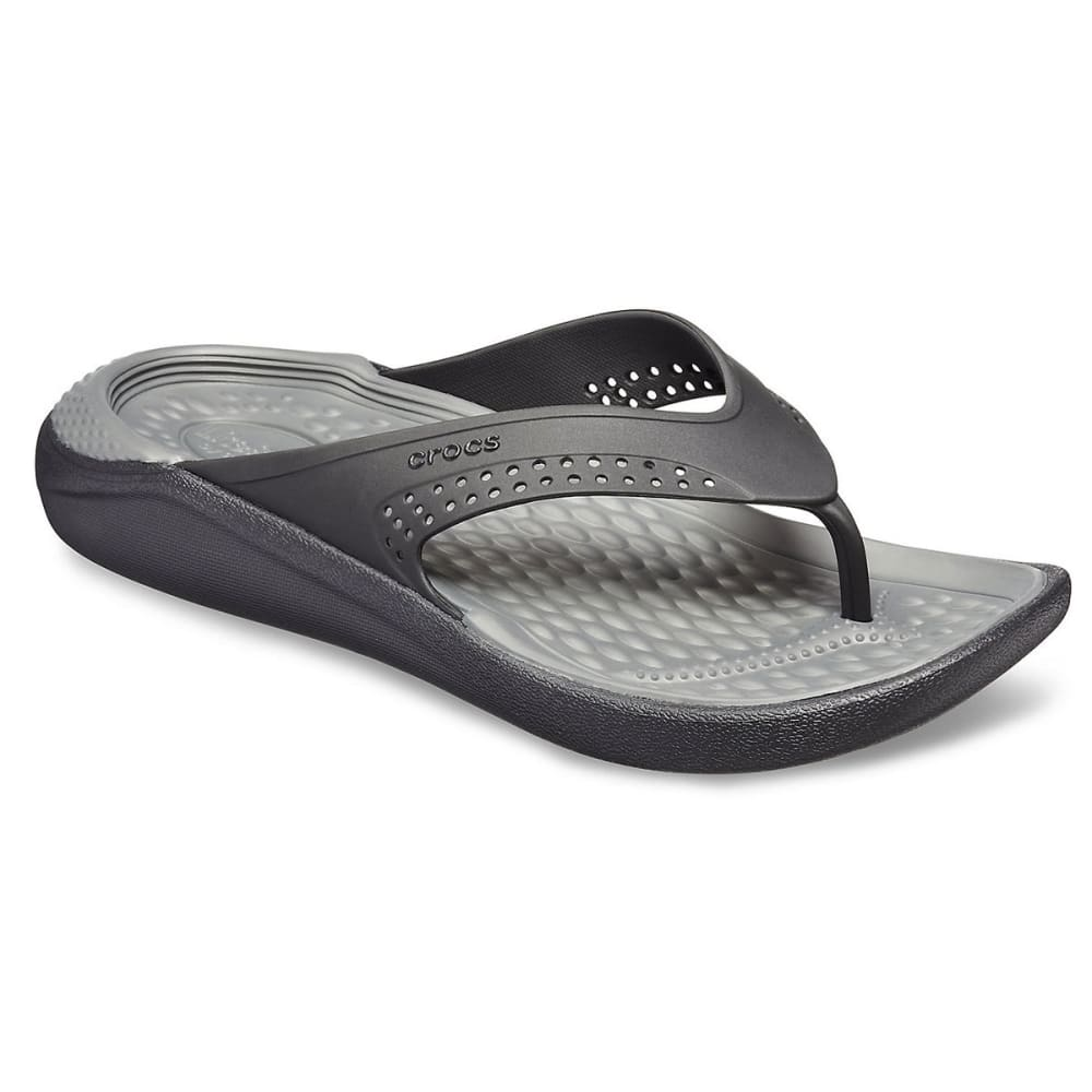 Crocs Unisex Literide Flip Sandals - Black, 4