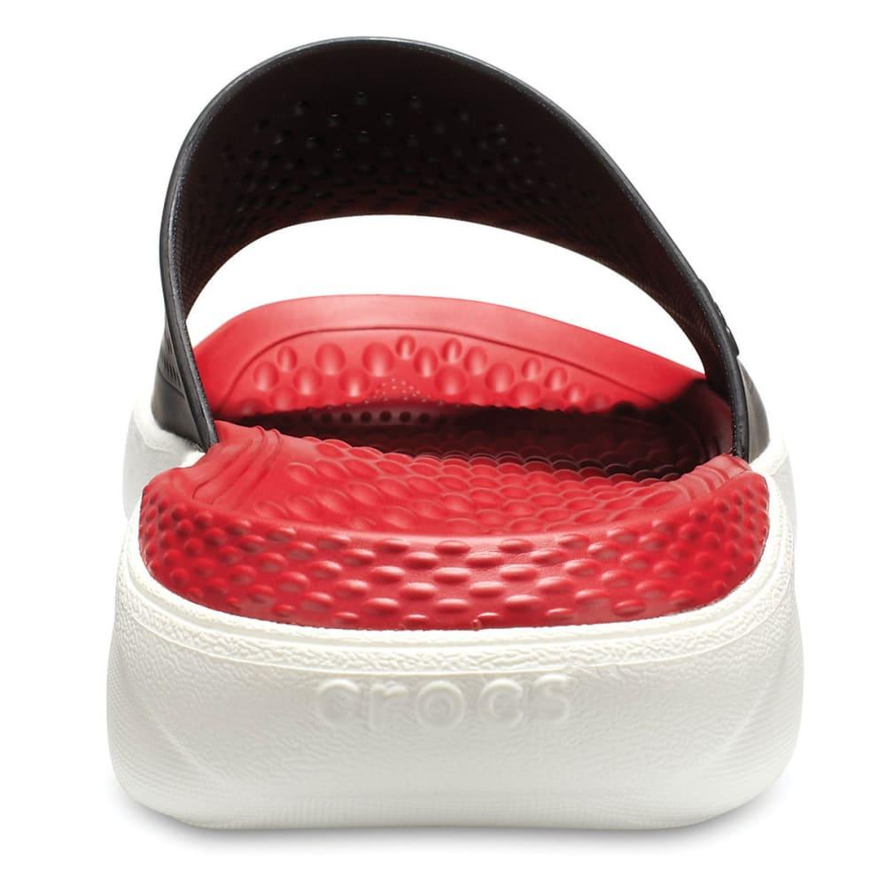 CROCS Unisex LiteRide Slide Sandals - BLACK/WHITE-066