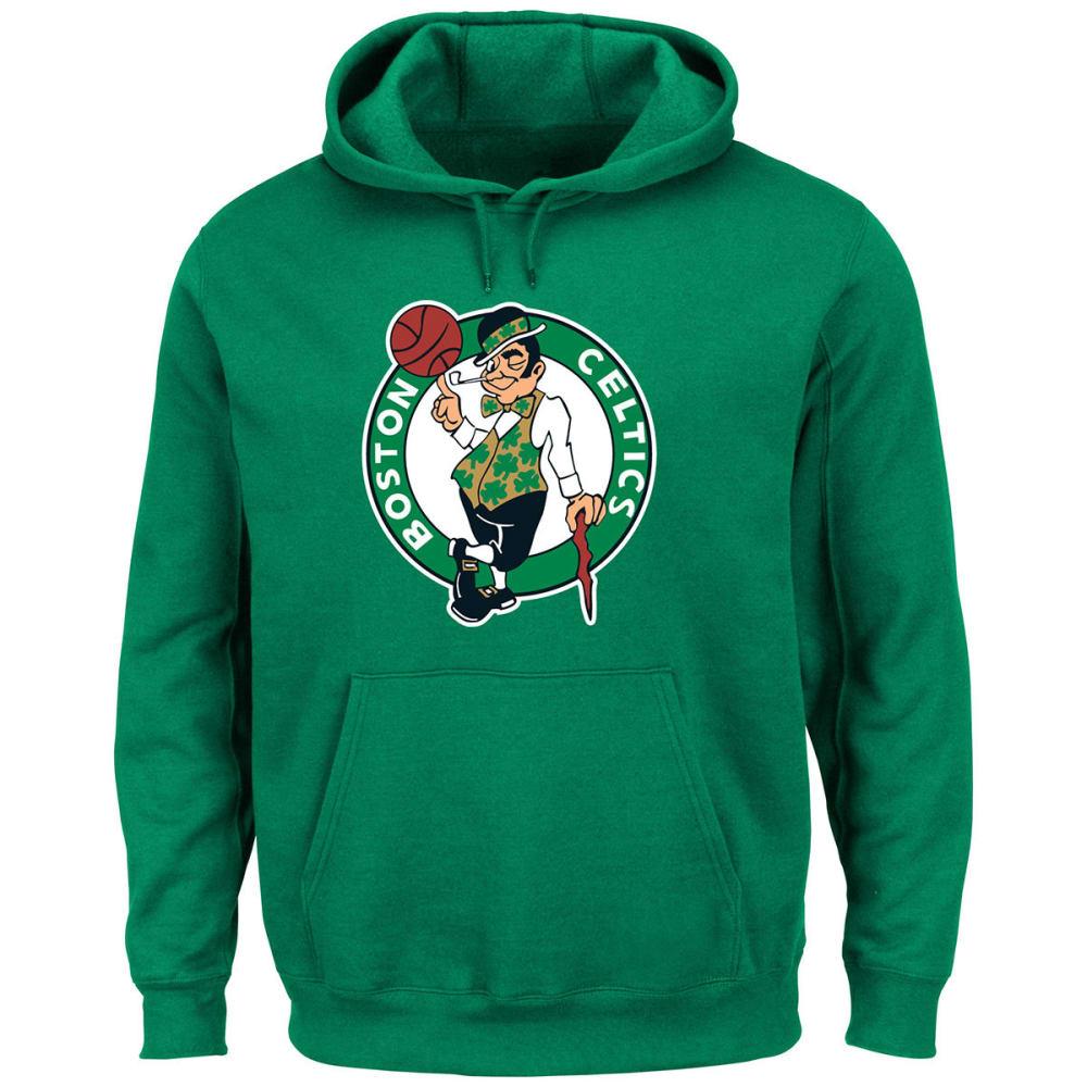 BOSTON CELTICS Men's Tek Patch Pullover Hoodie - GREEN