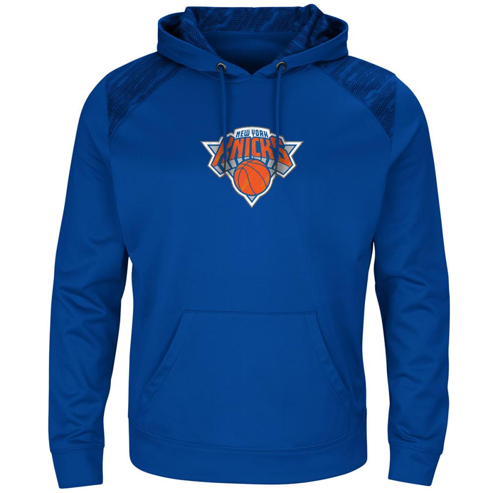 NEW YORK KNICKS Men's Armor Pullover Hoodie - ROYAL BLUE