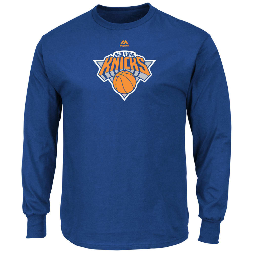 NEW YORK KNICKS Men's Primary Logo Long-Sleeve Tee - ROYAL BLUE