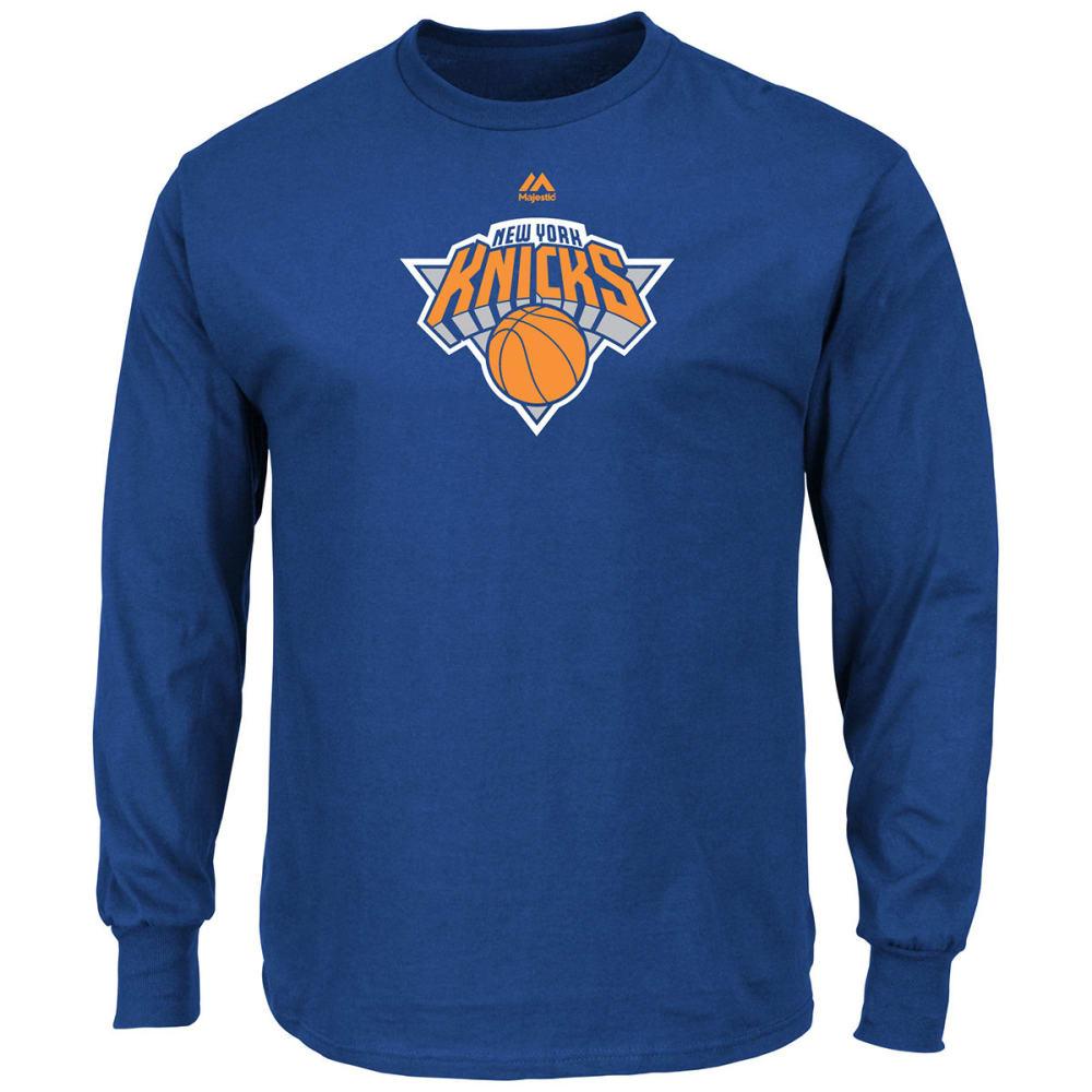 NEW YORK KNICKS Men's Primary Logo Long-Sleeve Tee - ROYAL BLUE