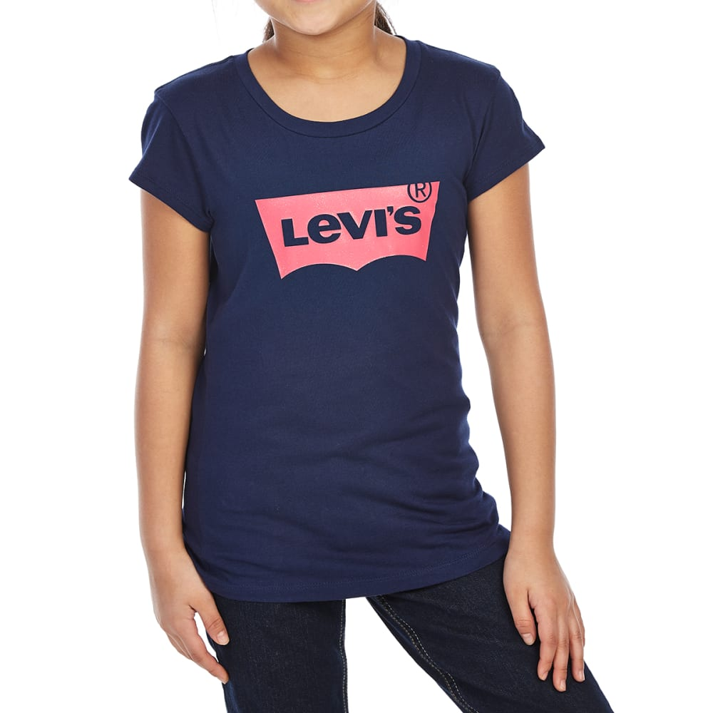 LEVI'S Big Girls' Batwing Short-Sleeve Tee - PEACOAT-046