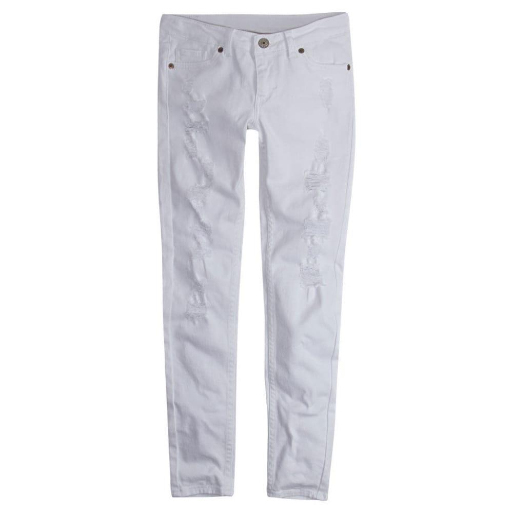 LEVI'S Big Girls' 710 Super-Skinny Color Jeans - WHITE-001