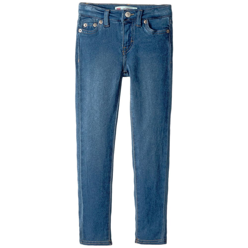LEVI'S Little Girls' 710 Everyday Super-Skinny Jeans - MED INDIGO-640