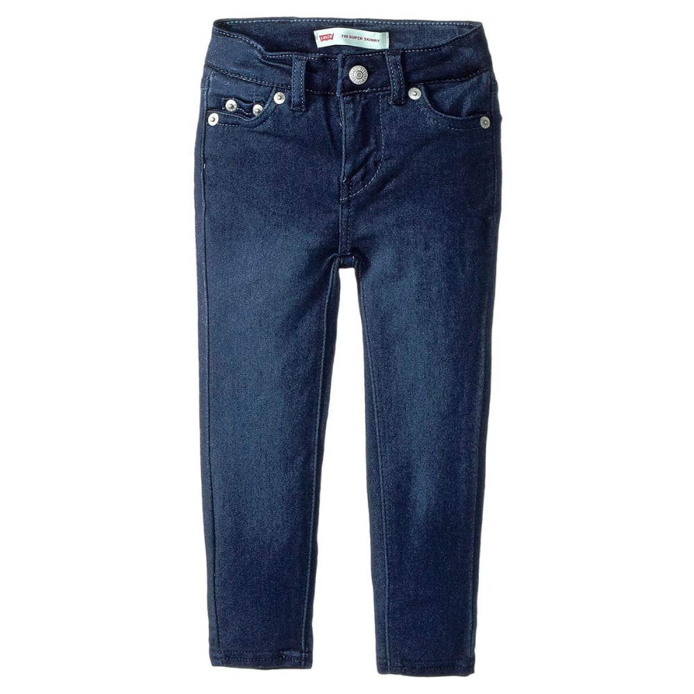 LEVI'S Toddler Girls' 710 Everyday Super-Skinny Jeans - DARK INDIGO-639