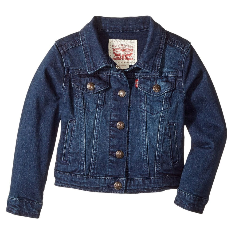 LEVI'S Toddler Girls' Trucker Jacket - TAILORED INDIGO-D26