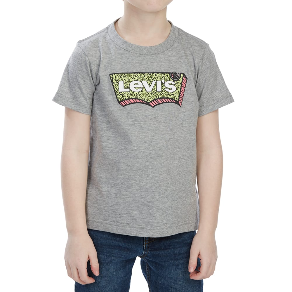 Levi's Little Boys' Graphic Short-Sleeve Tee - Black, 4