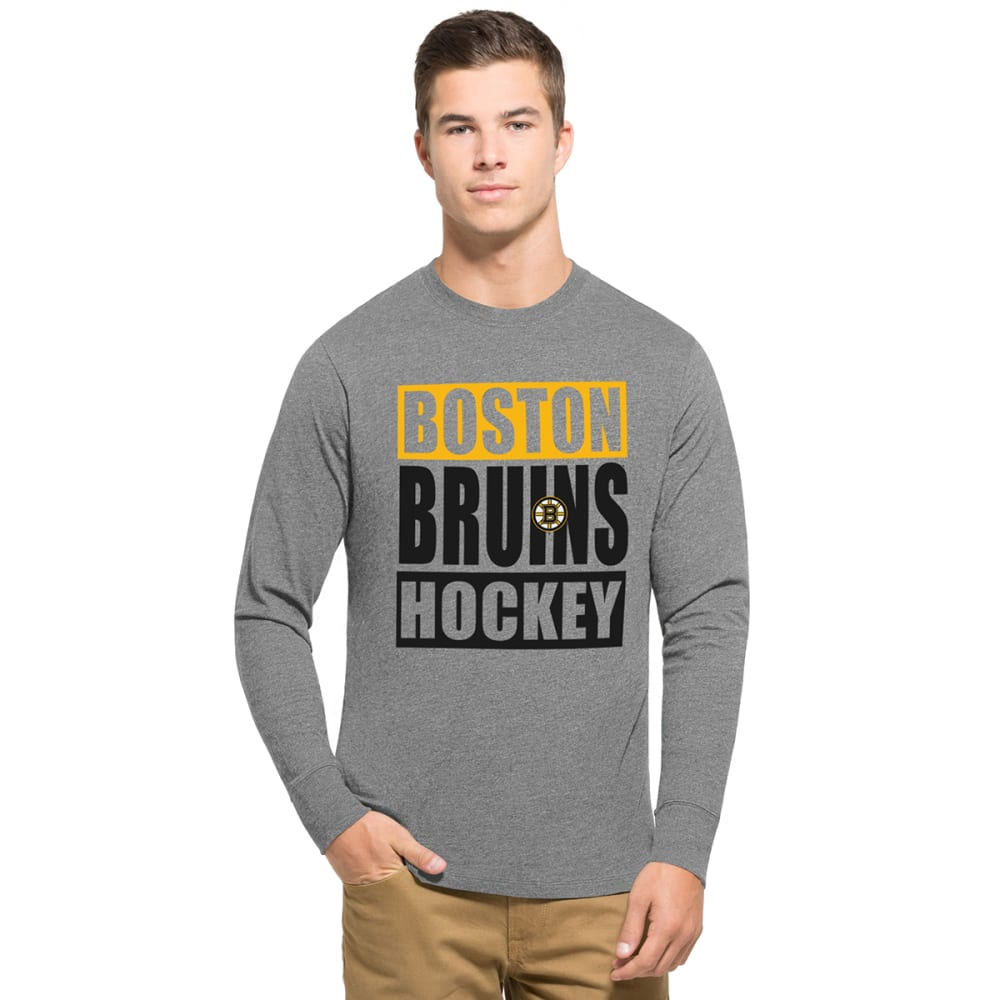 BOSTON BRUINS Men's Hockey '47 Club Long-Sleeve Tee - GREY