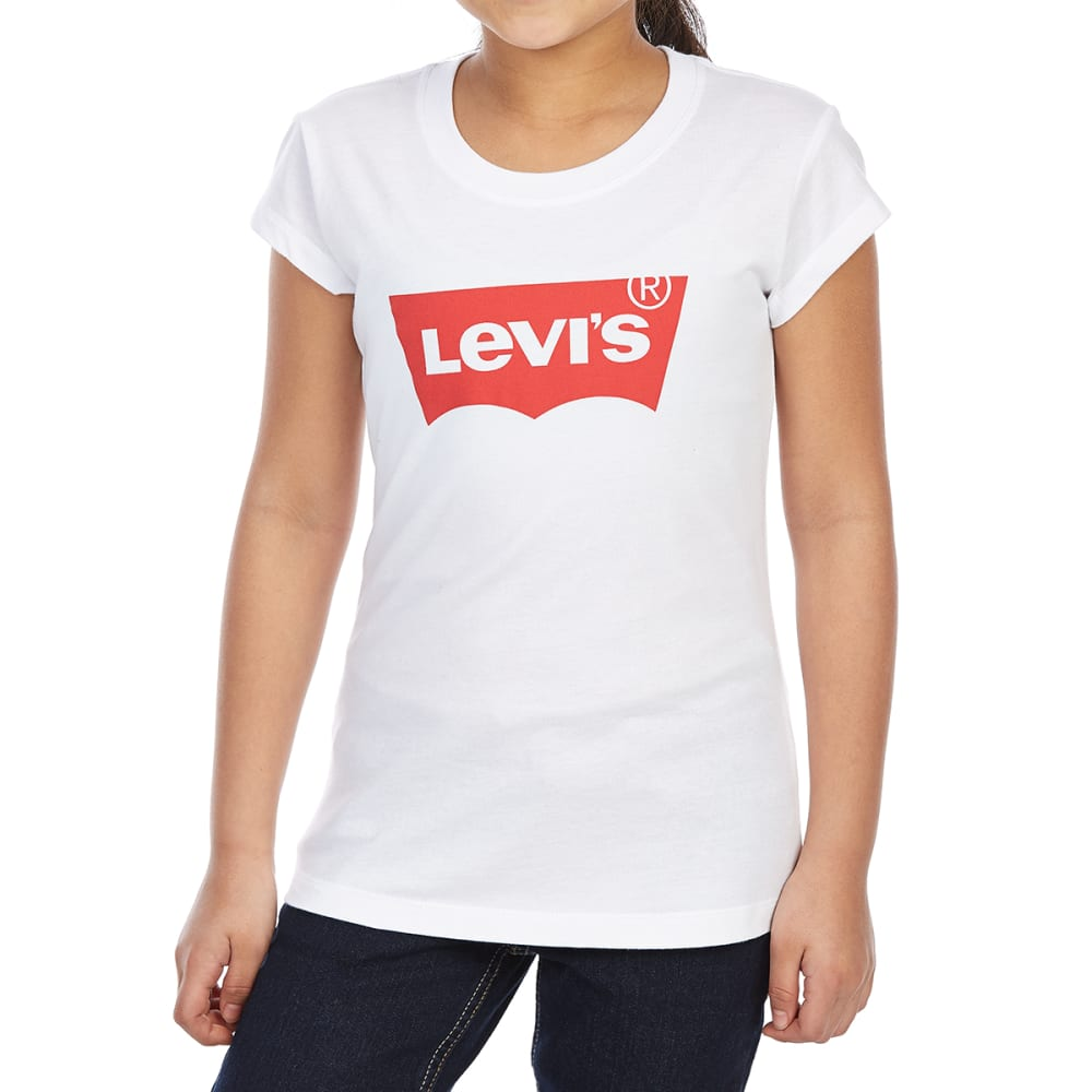 LEVI'S Little Girls' Batwing Short-Sleeve Tee - RED/WHITE-W5J