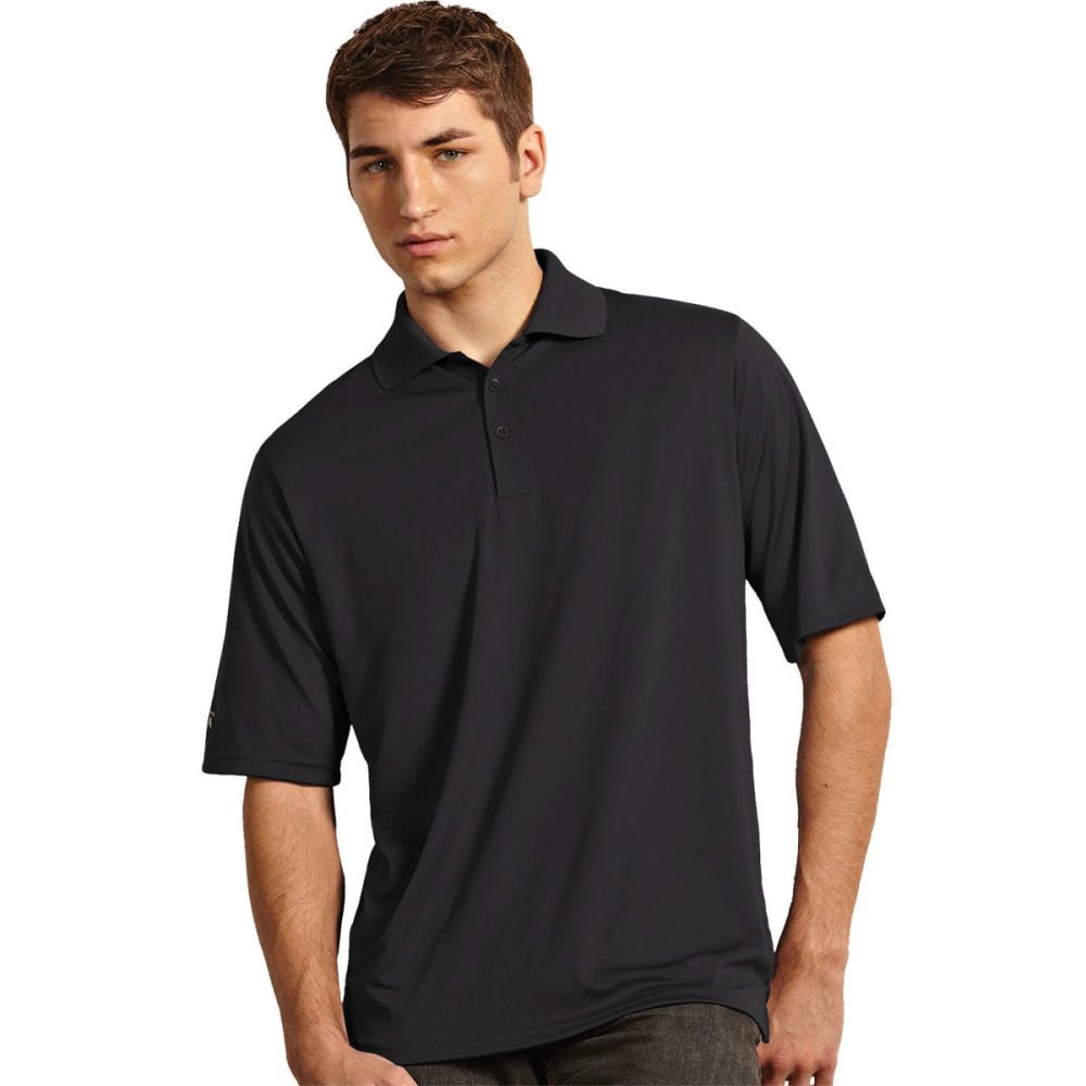 ANTIGUA Men's Exceed Short-Sleeve Polo Shirt - SMOKE-076