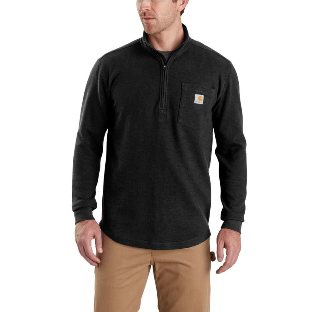 CARHARTT Men's Tilden Long-Sleeve Waffle Knit Half-Zip Pullover S