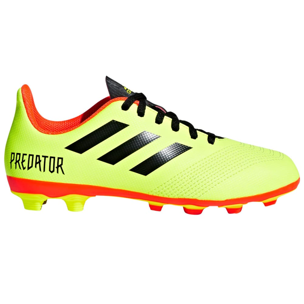 ADIDAS Big Kids' Predator 18.4 Firm Ground Soccer Cleats - YELLOW