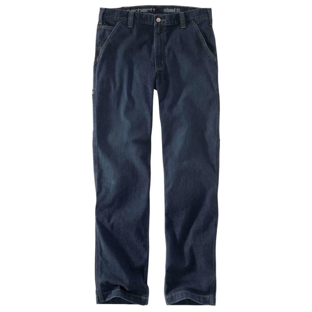 Carhartt Men's Rugged Flex Relaxed-Fit Dungaree Jean - Blue, 32/30