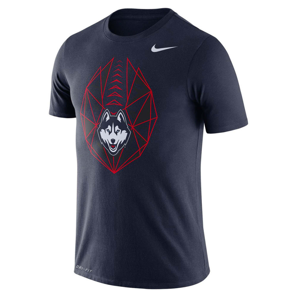 NIKE Men's UConn College Dri-FIT Football Icon Short-Sleeve Tee - NAVY