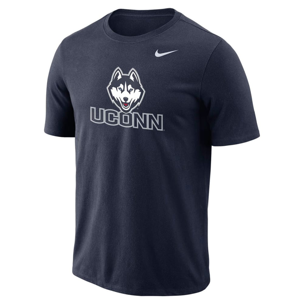NIKE Men's UConn College Logo Dri-FIT Short-Sleeve Tee - NAVY