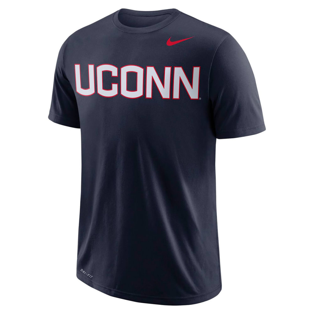 NIKE Men's UConn Dri-FIT Wordmark Short-Sleeve Tee L