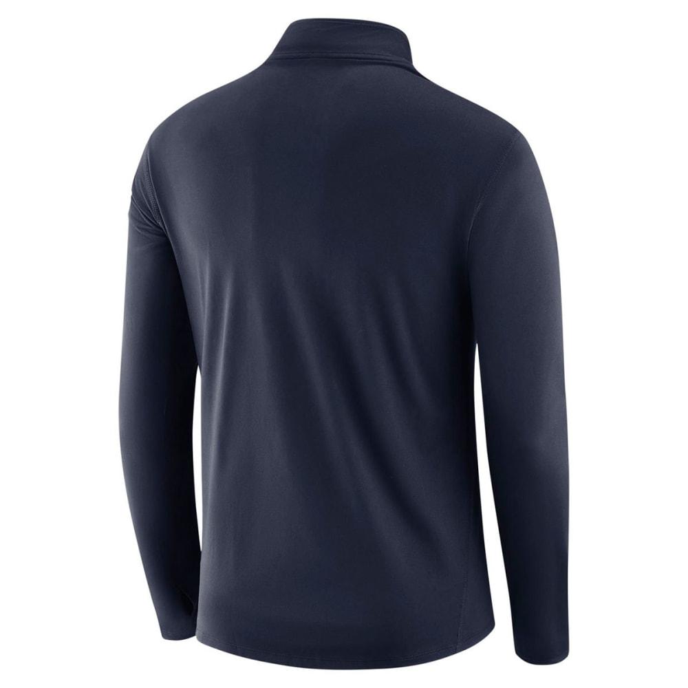 NIKE Men's UConn College ThermaHalf Zip Long-Sleeve Pullover - NAVY