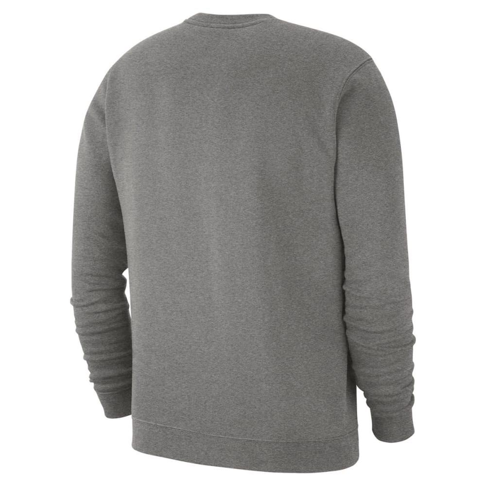NIKE Men's UConn Club Fleece Crew Long-Sleeve Pullover - GREY