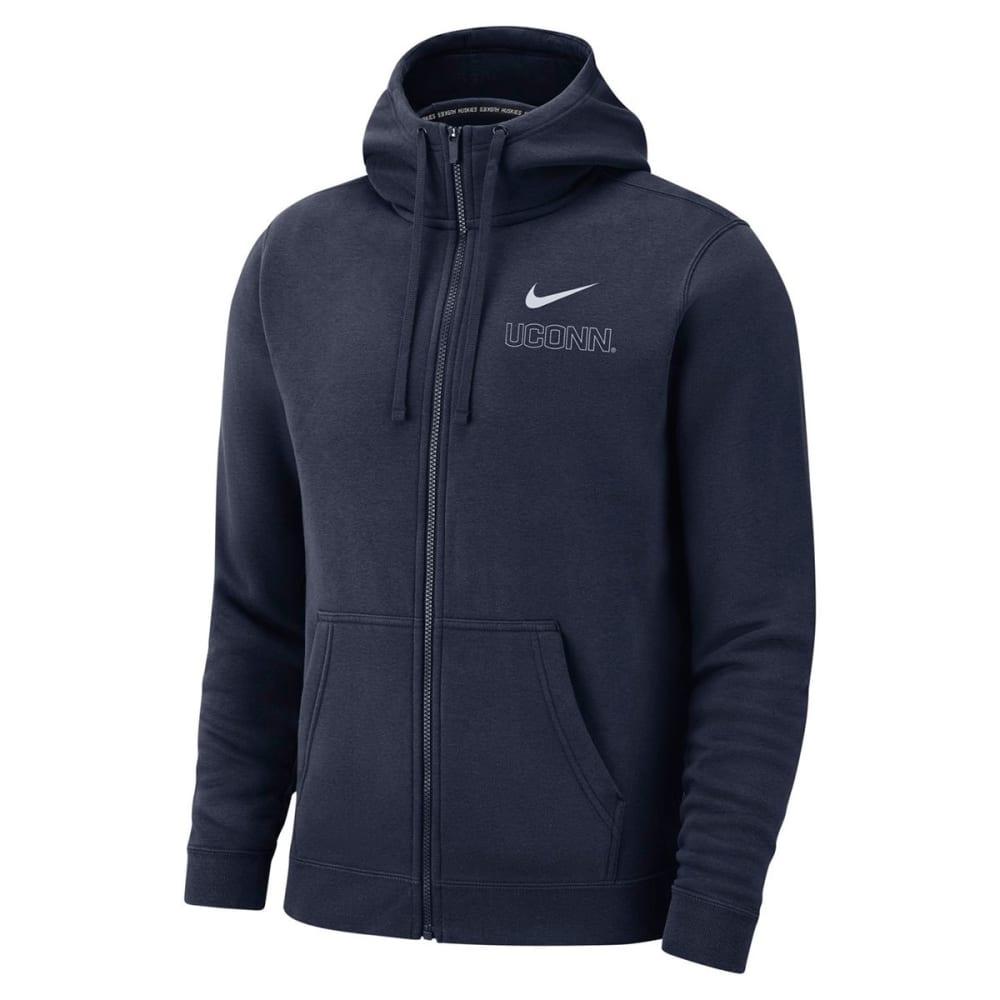 NIKE Men's UConn Fleece Full-Zip Hoodie - NAVY