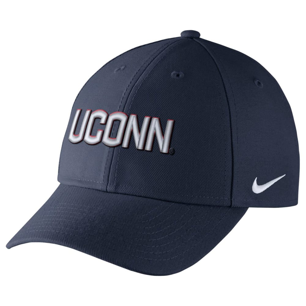 NIKE Men's UConn Wool Classic Wordmark Adjustable Cap - NAVY