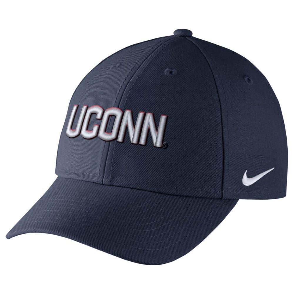 NIKE Men's UConn Wool Classic Wordmark Adjustable Cap - NAVY