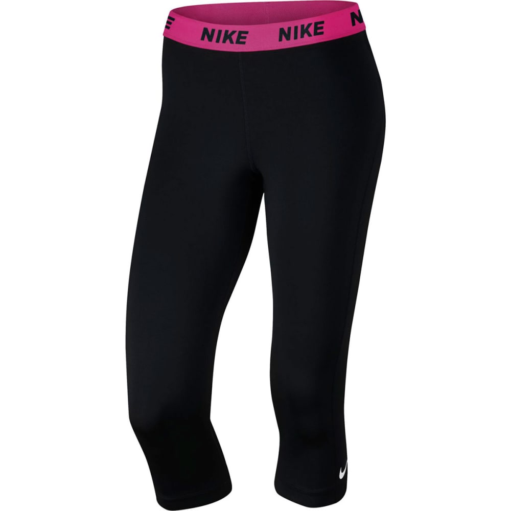 NIKE Women's Victory Training Capris - BLACK/VIV PINK-011