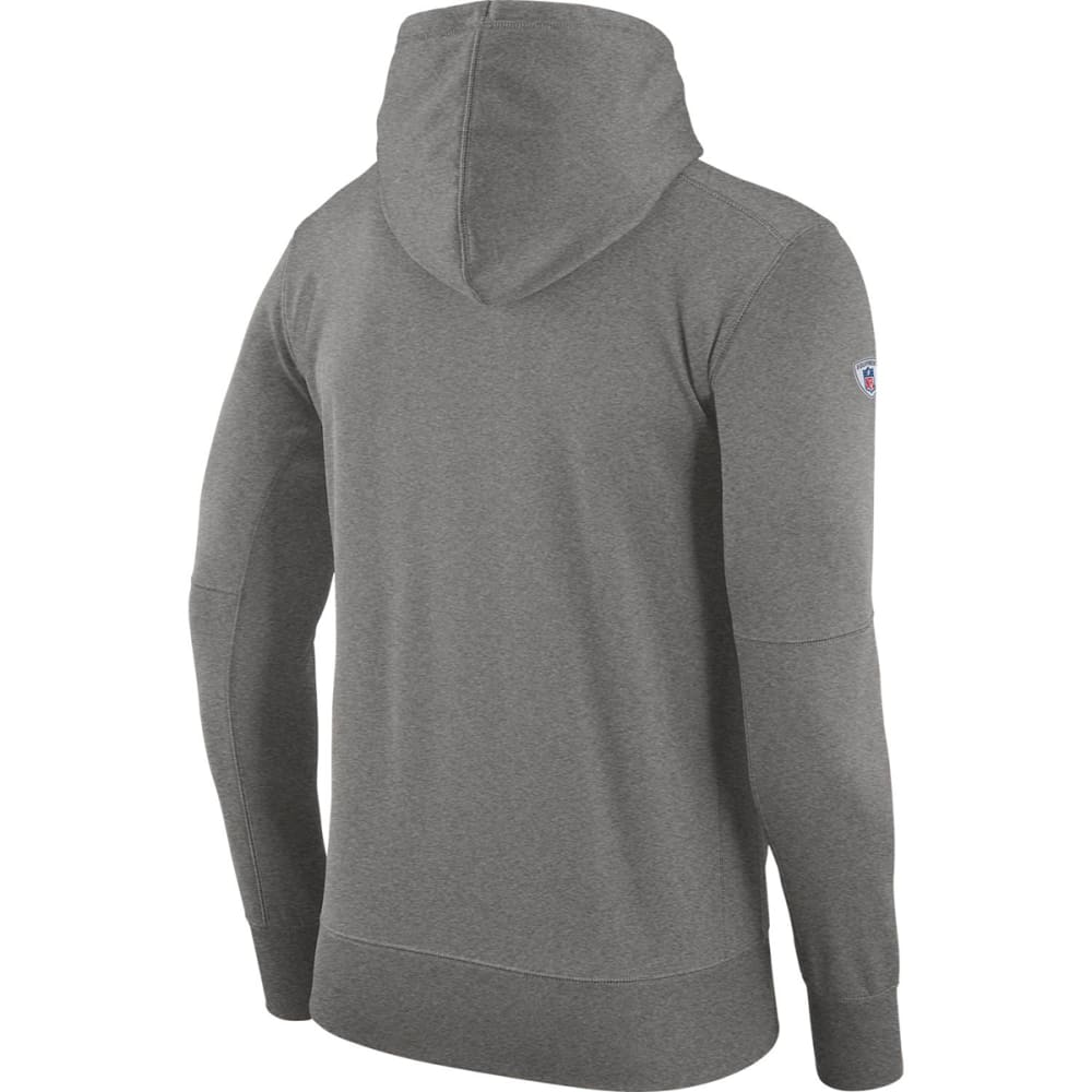 NIKE Men's New England Patriots Therma Pullover Hoodie - GREY