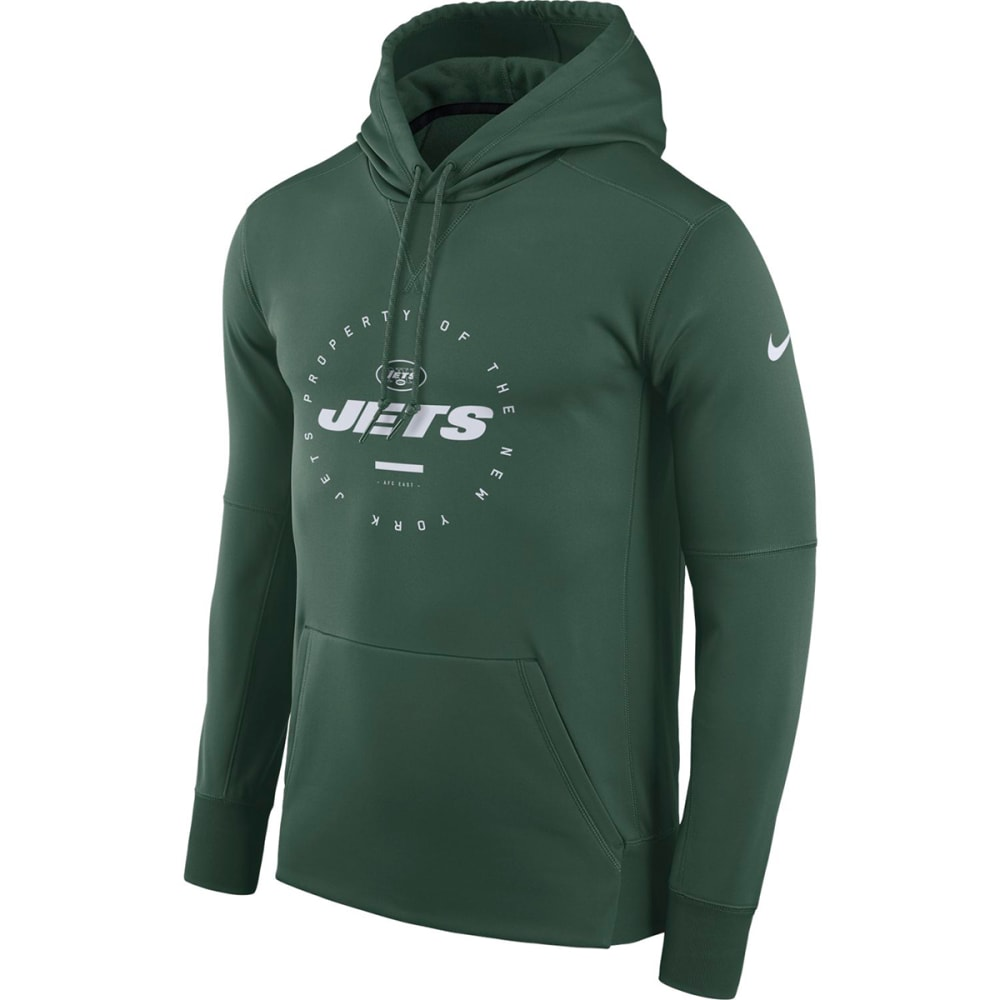 NIKE Men's New York Jets Therma Fleece Pullover Hoodie XL