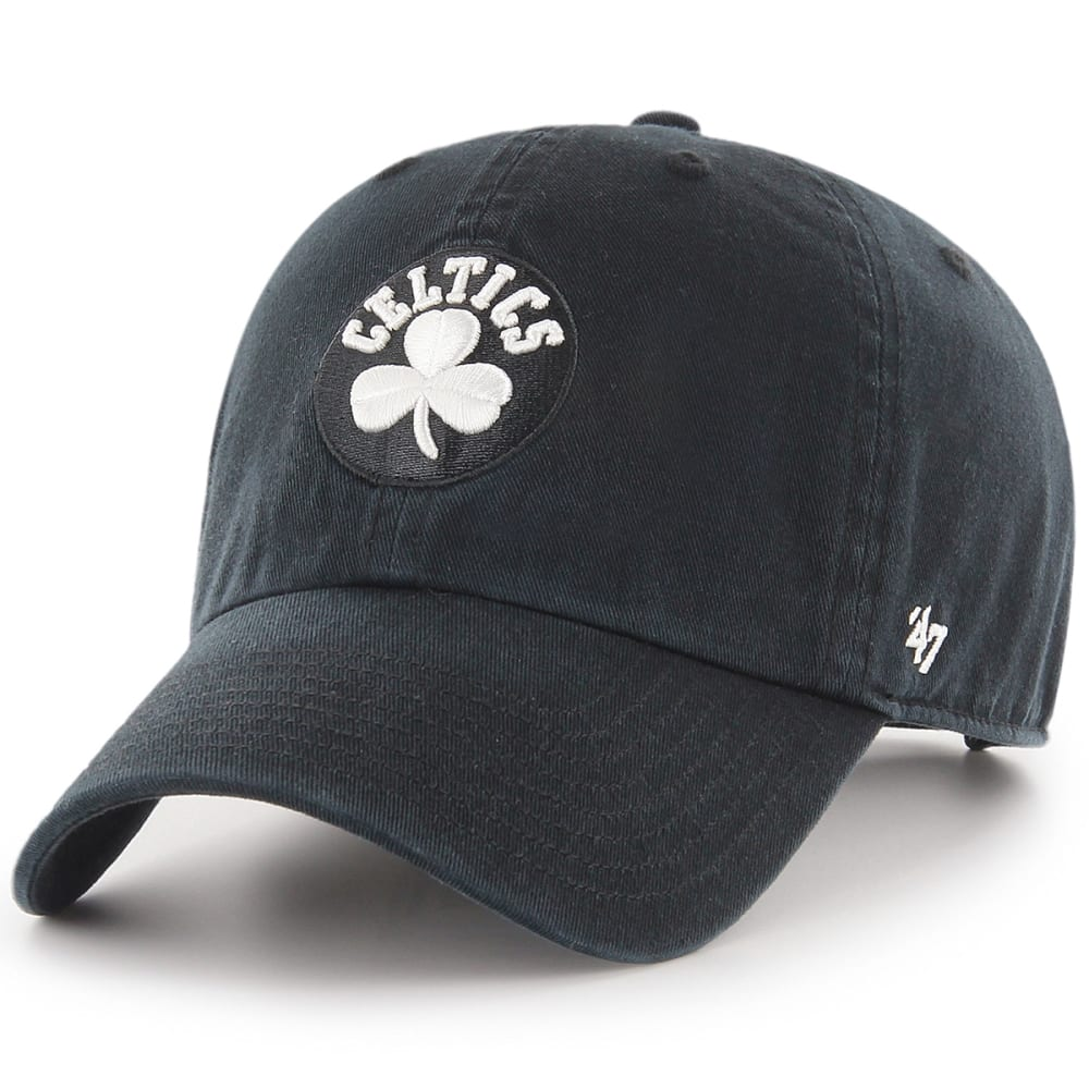 BOSTON CELTICS Men's Shamrock '47 Clean Up Adjustable Cap - BLACK