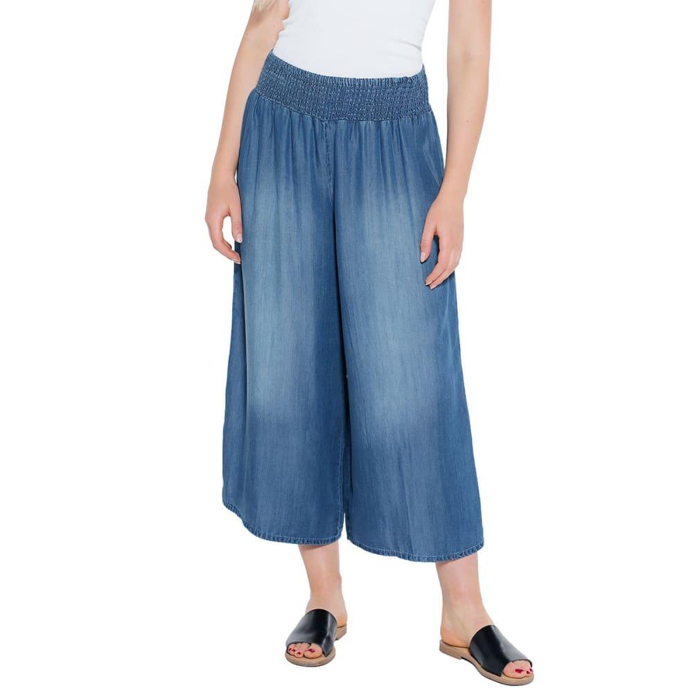 TAYLOR & SAGE Juniors' Smocked Waist Tencel Gaucho Pants M
