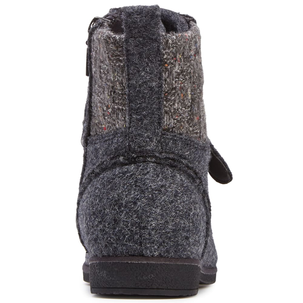 BEARPAW Women's Gramercy Lace-Up Mid Boots - CHARCOAL WOOL-030