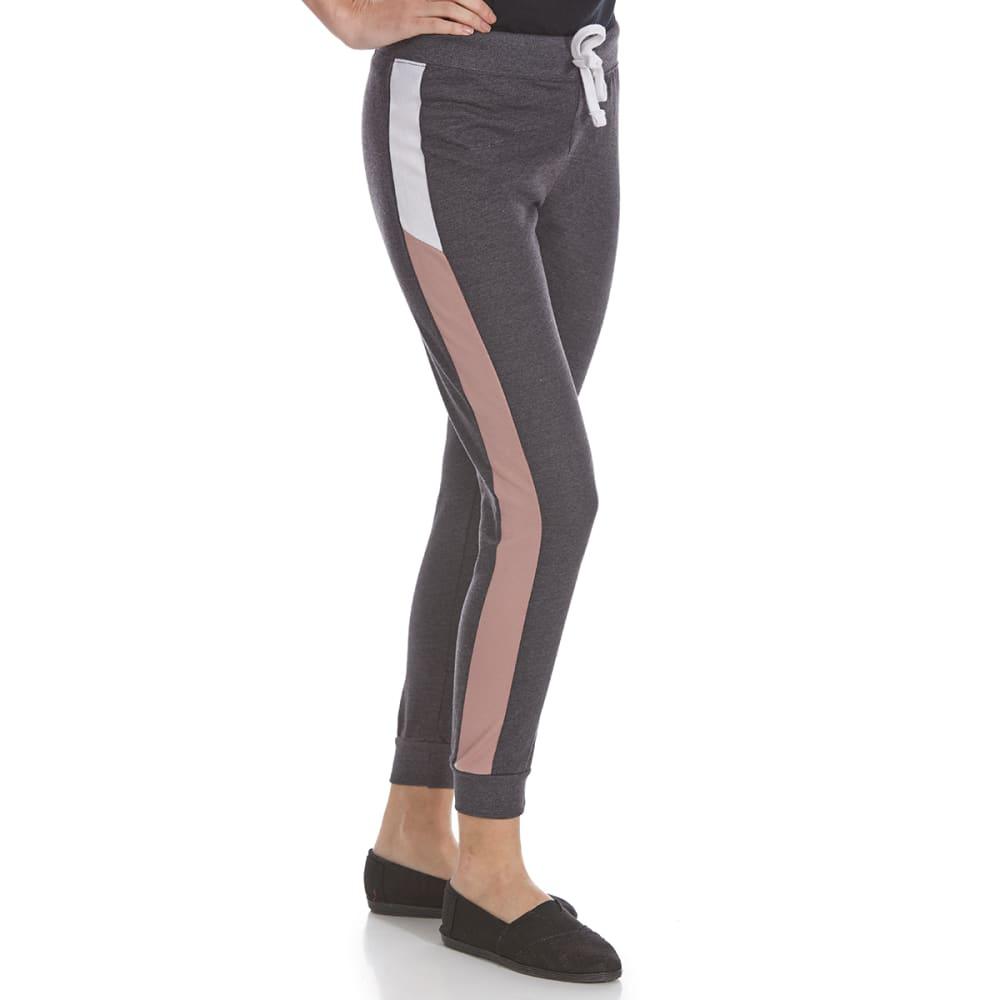 IKEDDI Juniors' Side Stripe Jogger Pants - GREY