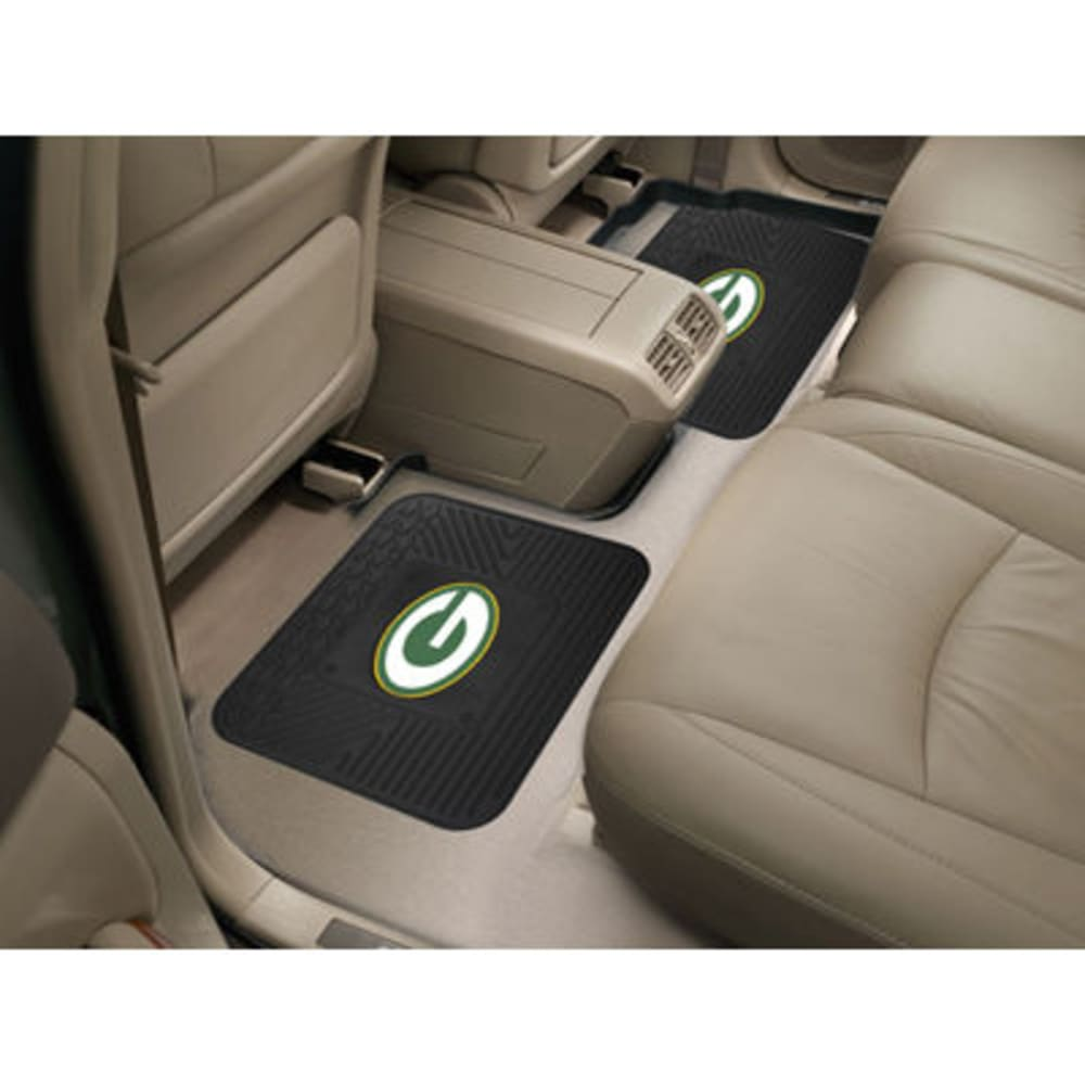 GREEN BAY PACKERS Utility Mats, Set of 2 - BLACK