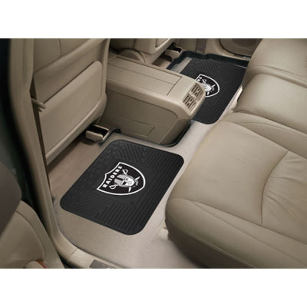 OAKLAND RAIDERS Utility Mats, Set of 2 ONE SIZE