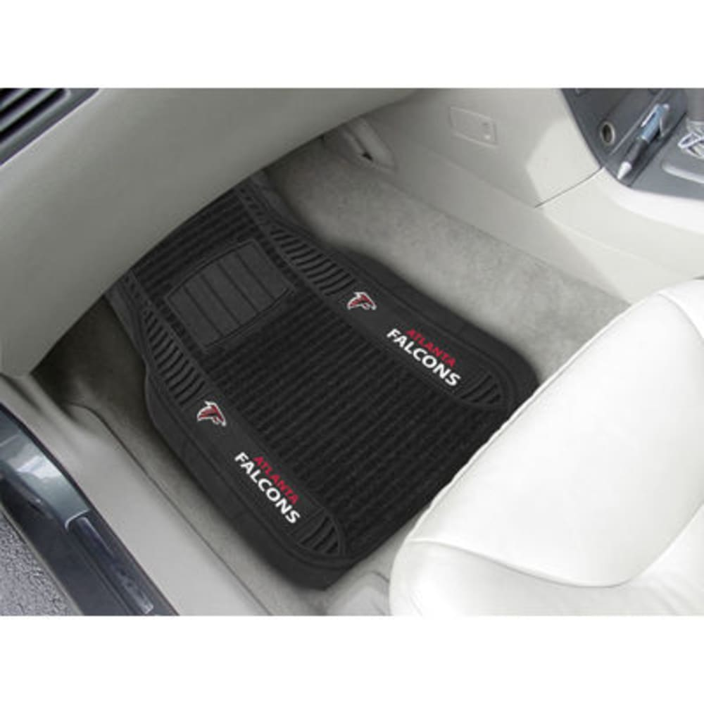 Fan Mats Atlanta Falcons 2-Piece Deluxe Car Mats, Black