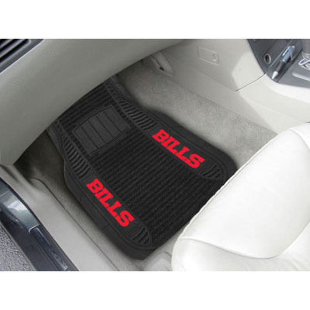 Fan Mats Buffalo Bills 2-Piece Deluxe Car Mats, Black