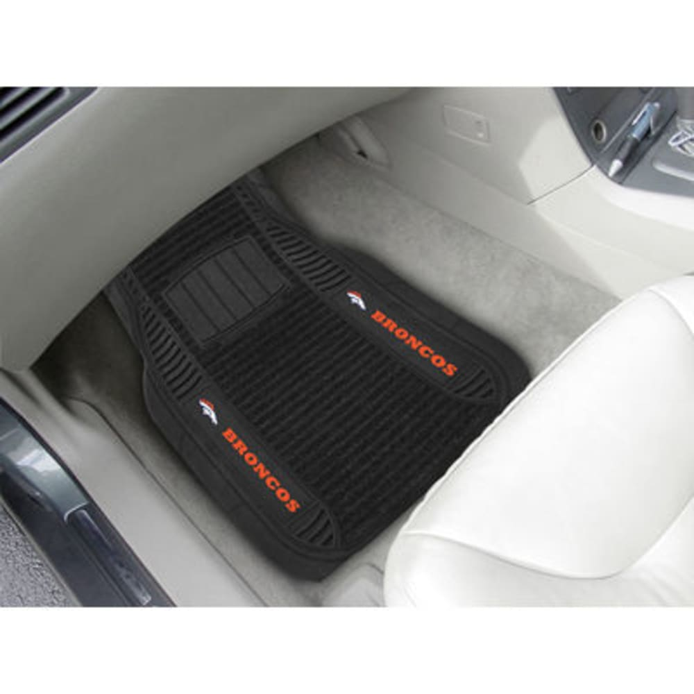 Fan Mats Denver Broncos 2-Piece Deluxe Car Mats, Black