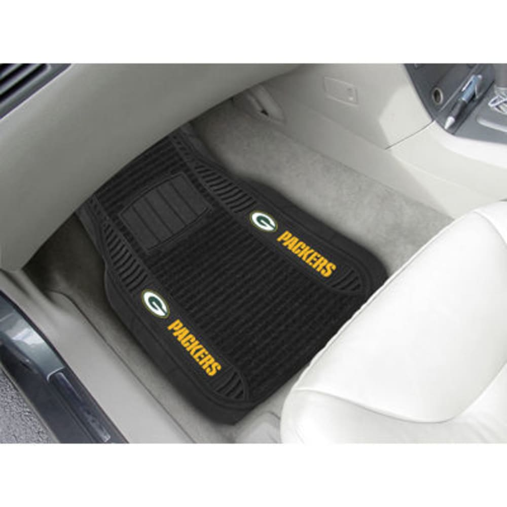 Fan Mats Green Bay Packers 2-Piece Deluxe Car Mats, Black