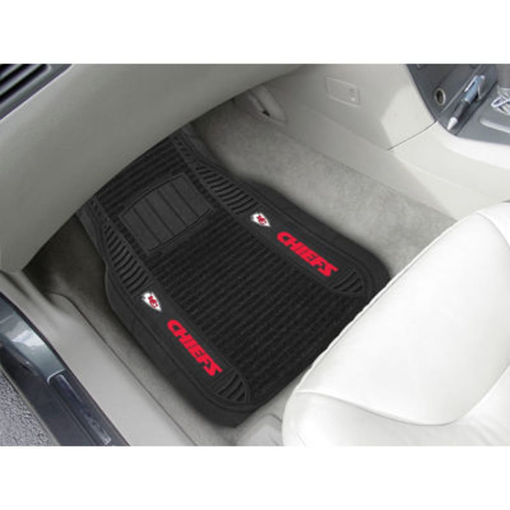 Fan Mats Kansas City Chiefs 2-Piece Deluxe Car Mats, Black