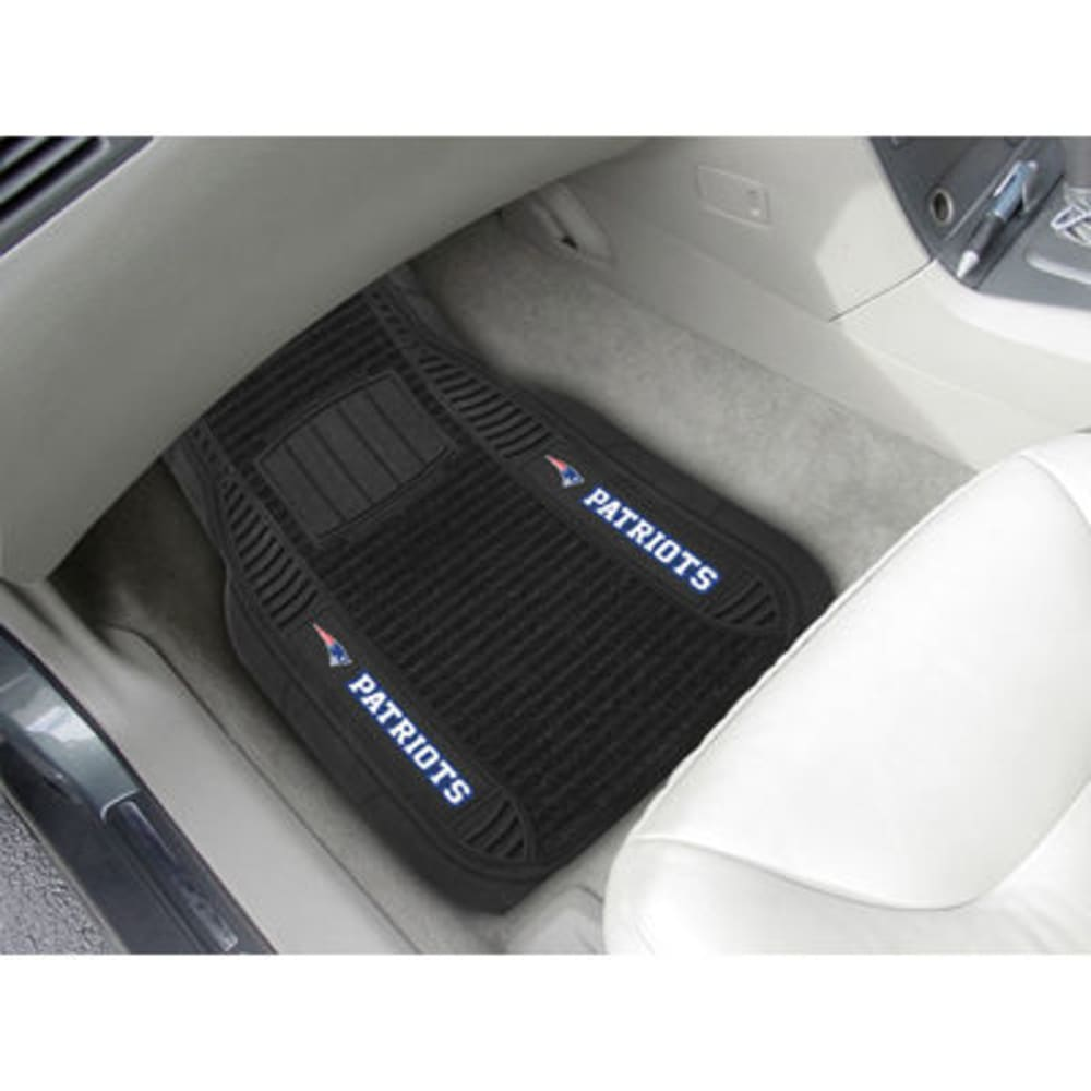 Fan Mats New England Patriots 2-Piece Deluxe Car Mats, Black