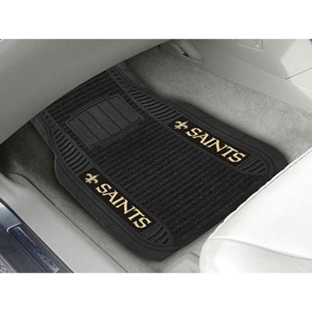 Fan Mats New Orleans Saints 2-Piece Deluxe Car Mats, Black